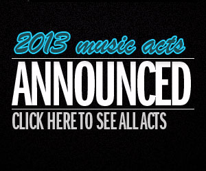 2013 music acts announced