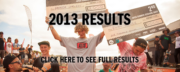 Boardmasters 2013 Skate results