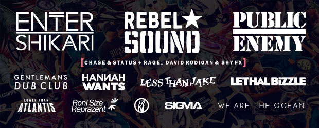 Public Enemy, Rebel Sound and Enter Shikari