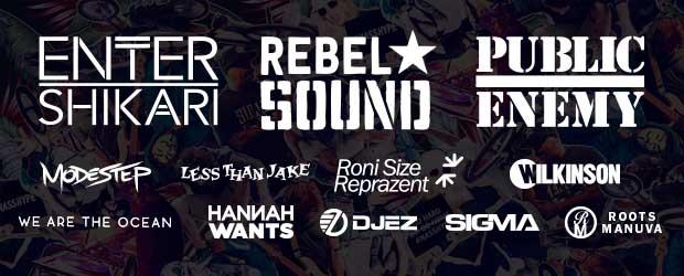 Public Enemy, Rebel Sound and Enter Shikari